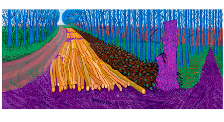 David Hockney Winter Timber 2009